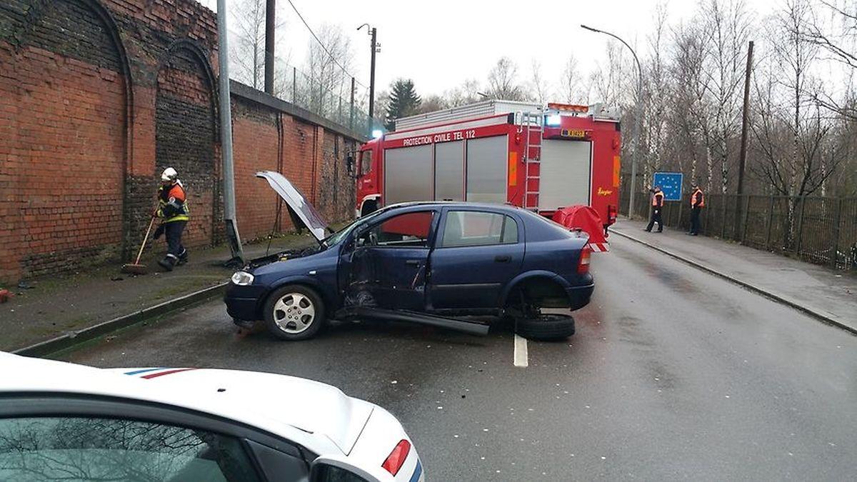 O acidente em Esch/Alzette deu-se na rue d'Audun