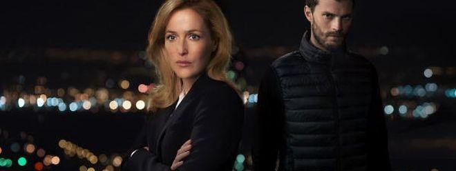 """Wer bringt wen zu Fall: Ermittlerin Stella Gibson """"Gillian Anderson"""" den Frauenmörder Paul Spector (Jamie Dornan)  oder umgekehrt?"""