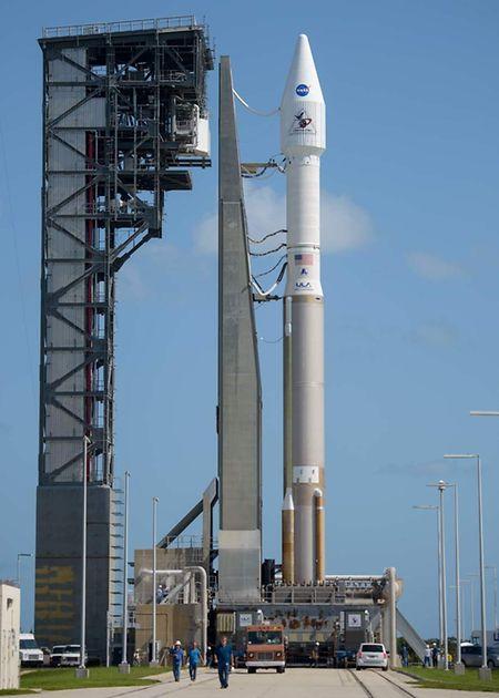 Die Atlas V Rakete startete von der Air Force Station in Cape Canaveral, Florida, aus.