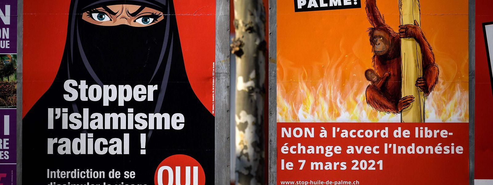 In der Schweiz schlägt ein vorgeschlagenes Verbot der muslimischen Ganzkörperverhüllung hohe Wellen.