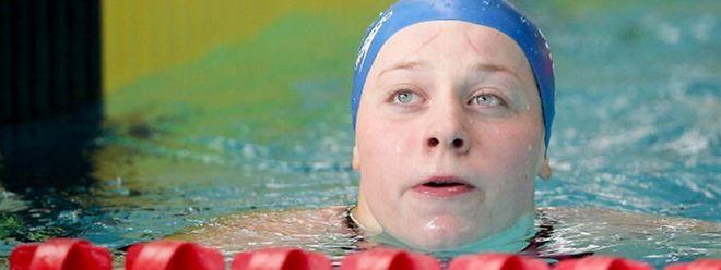 Julie Meynen will Bestzeit schwimmen.