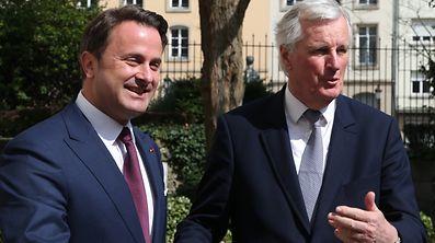 4.4.2017 Luxembourg, ville, Xavier Bettel et Michel Barnier, visite de Michel Barnier photo Anouk Antony