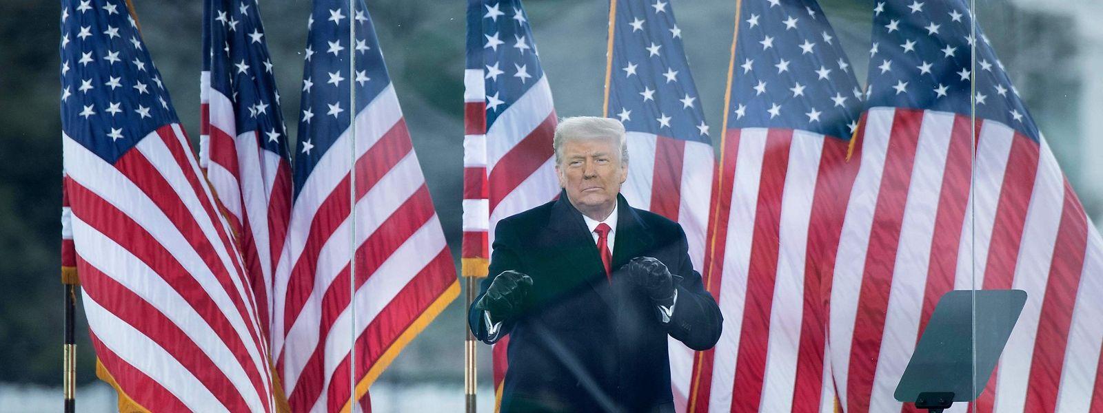 Im Verfahren geht es um Trumps Rolle bei der Erstürmung des Kapitols durch seine Anhänger am vergangenen Mittwoch.