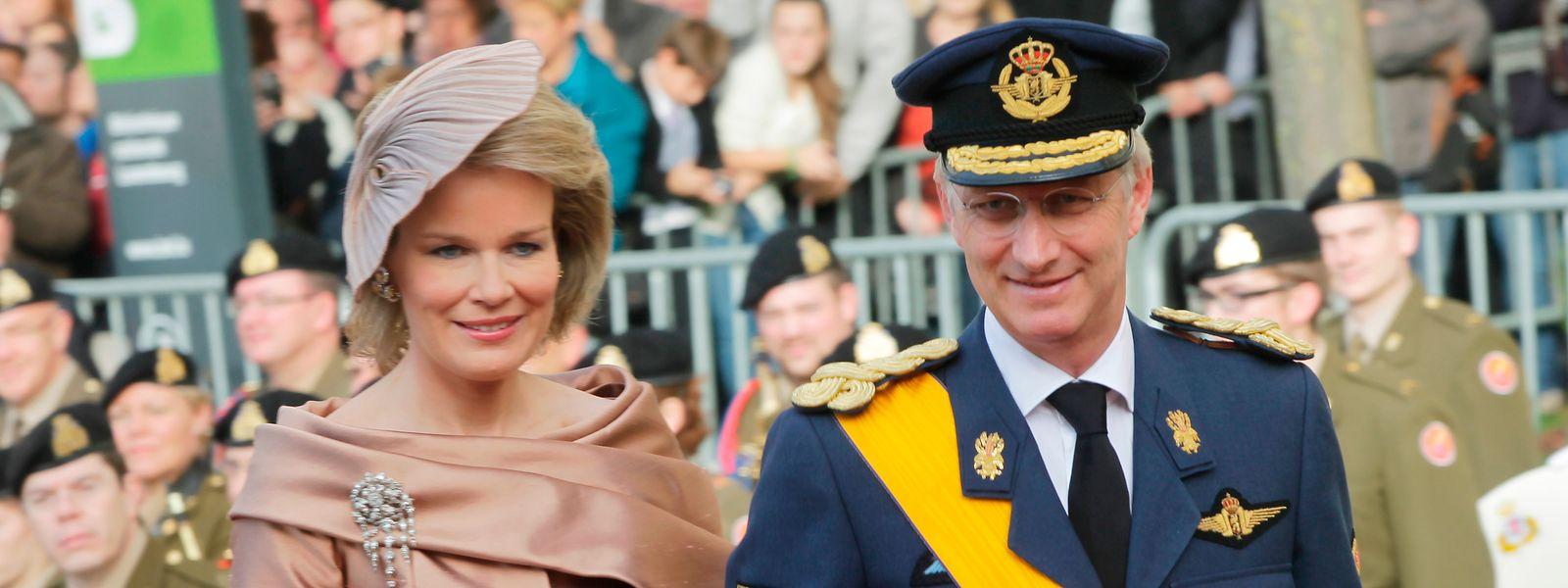 Das belgische Königspaar bei der Hochzeit von Erbgroßherzog Guillaume und Erbgroßherzogin Stéphanie, die ebenfalls aus einem belgischen Adelshaus stammt.