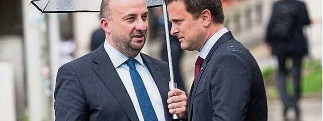 Auch ohne klare Koalitionsaussage werden Etienne Schneider (l.) und Xavier Bettel um eine zweite Amtszeit für Blau-Rot-Grün kämpfen.