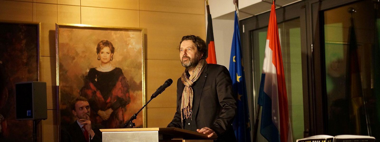Filmfund-Direktor Guy Daleiden stellte unter anderem im vergangenen Februar die Filmszene in der Berliner Botschaft vor.