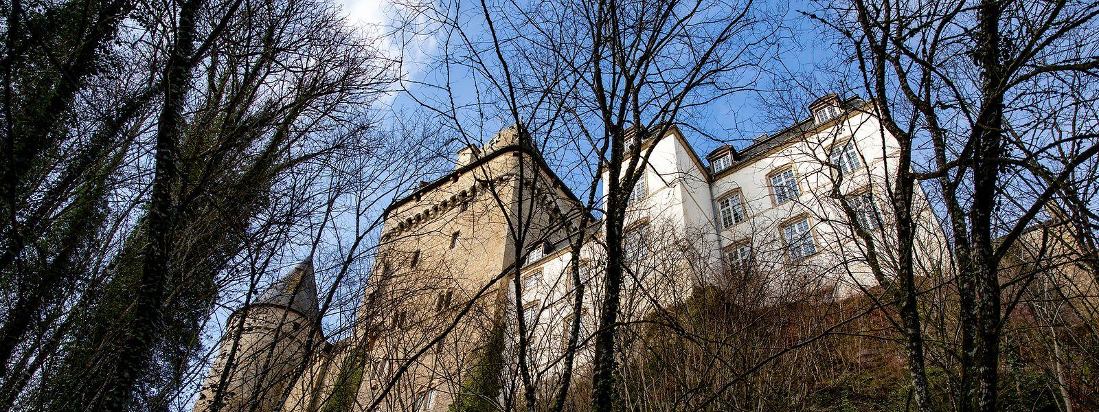 Von den ursprünglichen Bauten sind heute unter anderem noch der Wohnturm und der runde Eckturm erhalten.