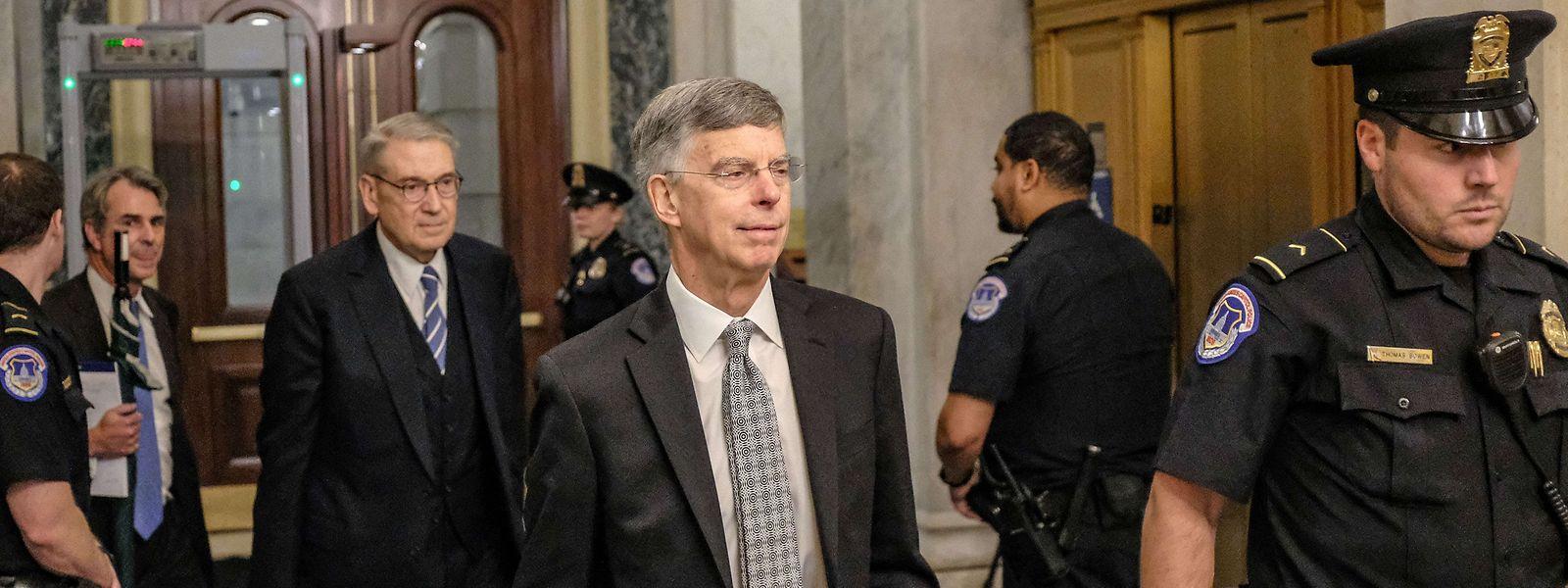 Taylor auf dem Weg zur Anhörung.