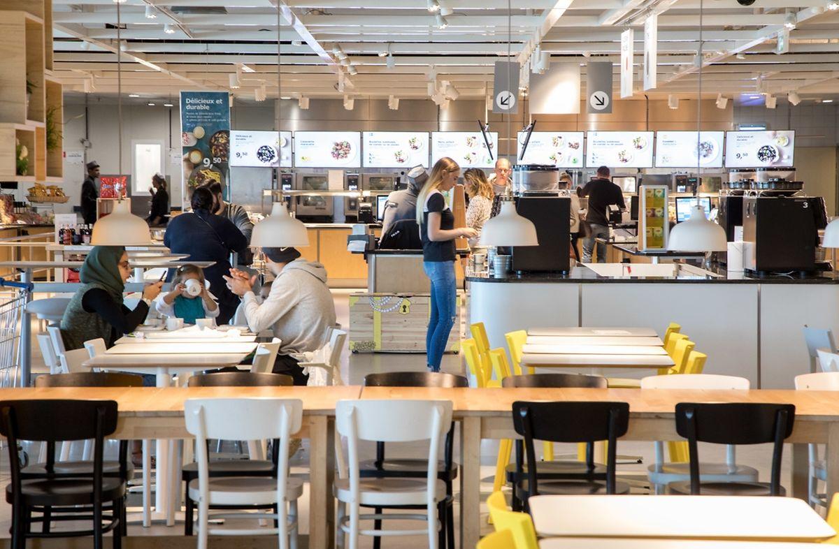 80% des clients du magasin passent par le restaurant pour y manger ou boire quelque chose.