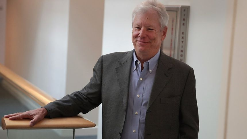 Le professeur Richard Thaler en octobre 2009 à l'Université de Chicago.