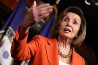 WASHINGTON, DC - OCTOBER 31: U.S. Speaker of the House Nancy Pelosi delivers remarks at a press conference at the U.S. Capitol on October 31, 2019 in Washington, DC. Later today The U.S. House of Representatives is scheduled to vote on a resolution formalizing the impeachment inquiry centered on U.S. President Donald Trump.   Chip Somodevilla/Getty Images/AFP == FOR NEWSPAPERS, INTERNET, TELCOS & TELEVISION USE ONLY ==