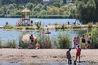 Lokales, Sommer, Hitze, Hitzewelle, Canicule, Sonne, Abkühlung, Remerschen, Baggerweier, Foto: Lex Kleren/Luxemburger Wort