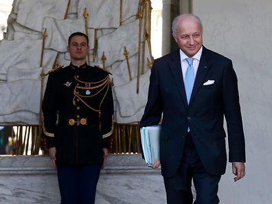 Le ministre des Affaires étrangères quitte l'Elysée après le Conseil hebdomadaire des ministres, dont il a annoncé que c'était son dernier.