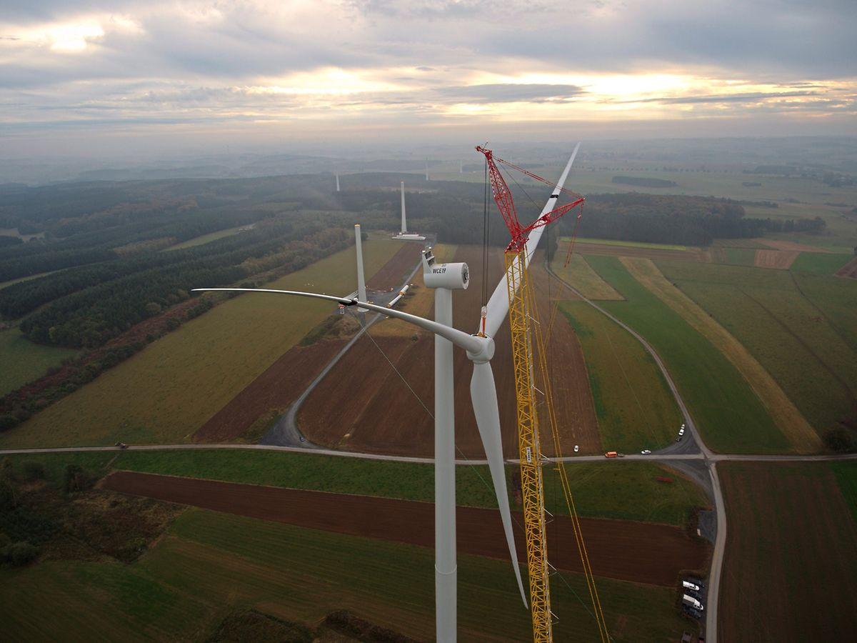 Mit mehr als 142 Metern stehen im Windpark Weiler auch die höchsten Windkraftanlagen des Landes.