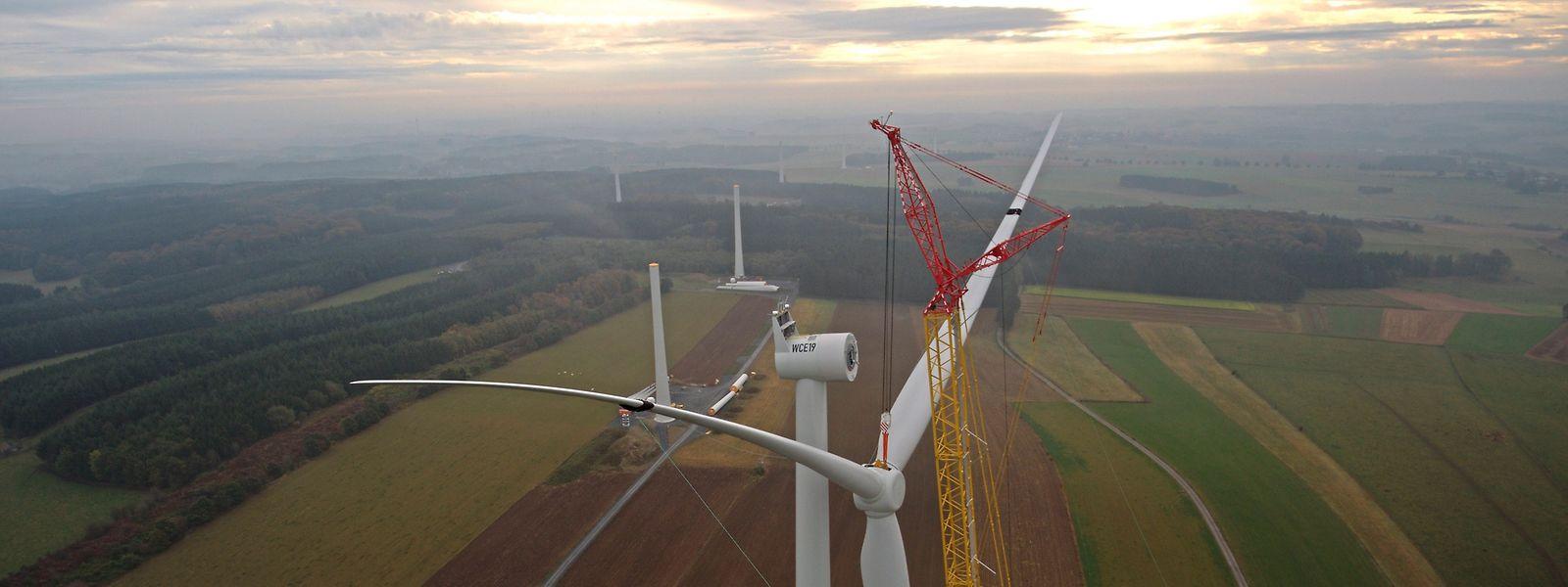 In Weiler entsteht derzeit der größte Windpark Luxemburgs.