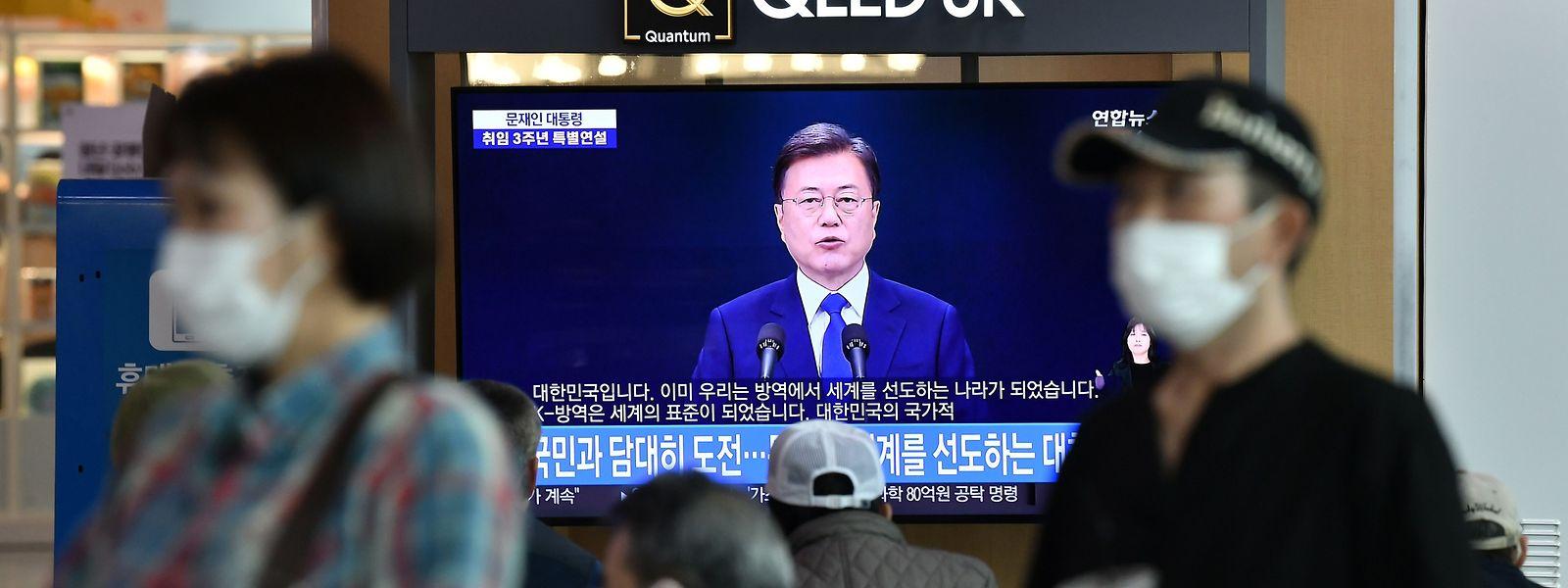 Le président sud-coréen Moon Jae-in a exhorté la population à la plus grande vigilance.