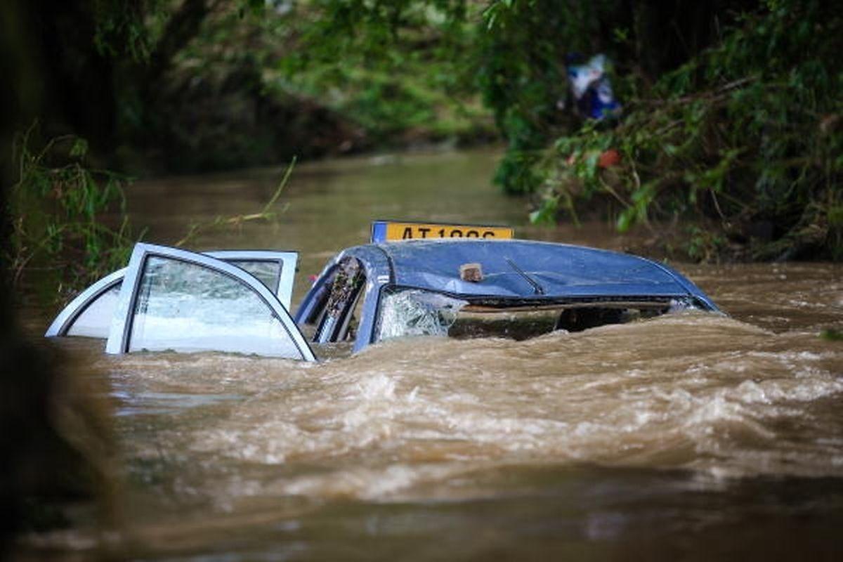 Heftiger Regen sorgte im Juli entlang der Weißen Ernz für schlimme Überschwemmungen.