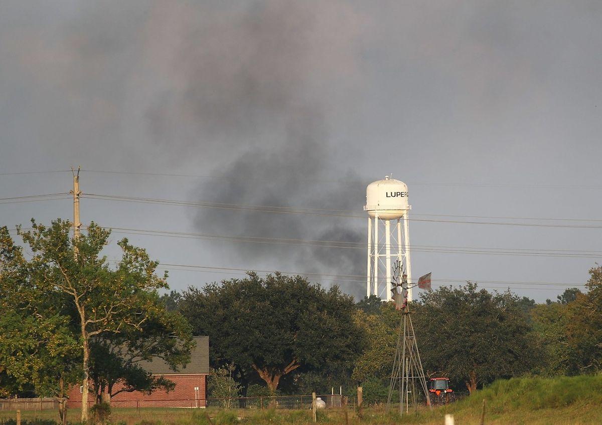 In der Chemiefabrik in Crosby ist erneut ein Feuer ausgebrochen.