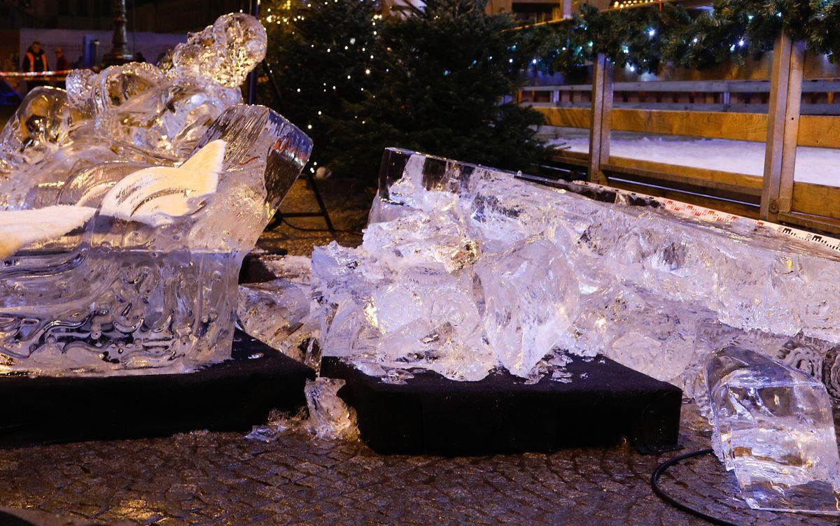 Die Trümmer der Eiswand.