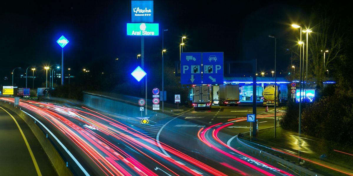 """Die """"Aire de Berchem"""" ist die größte Tankstelle in Europa."""