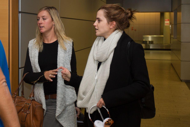 Emma Watson landete am Sonntagabend auf dem Findel.