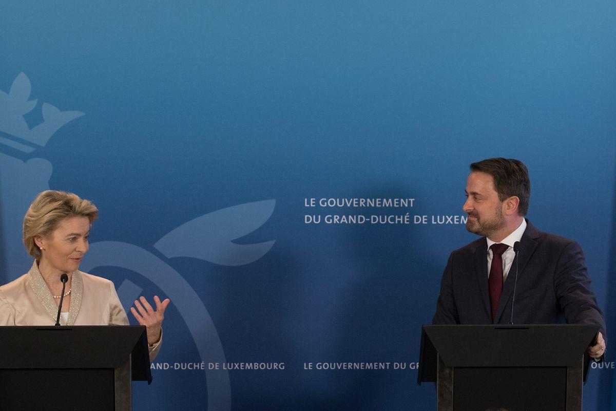 Das Verhältnis zwischen Kommissionspräsidentin Ursula von der Leyen und Premierminister Xavier Bettel ist sehr gut.