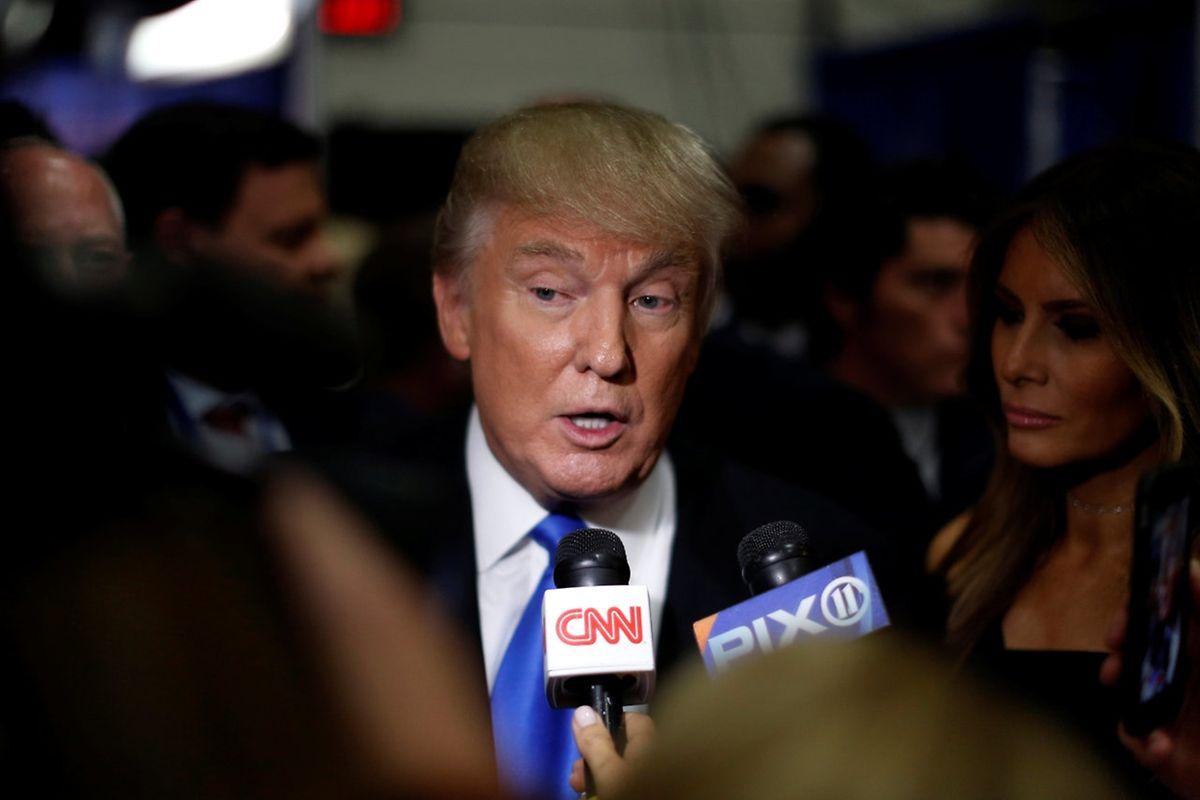 Trump war auch nach dem Duell als Interviewpartner gefragt.