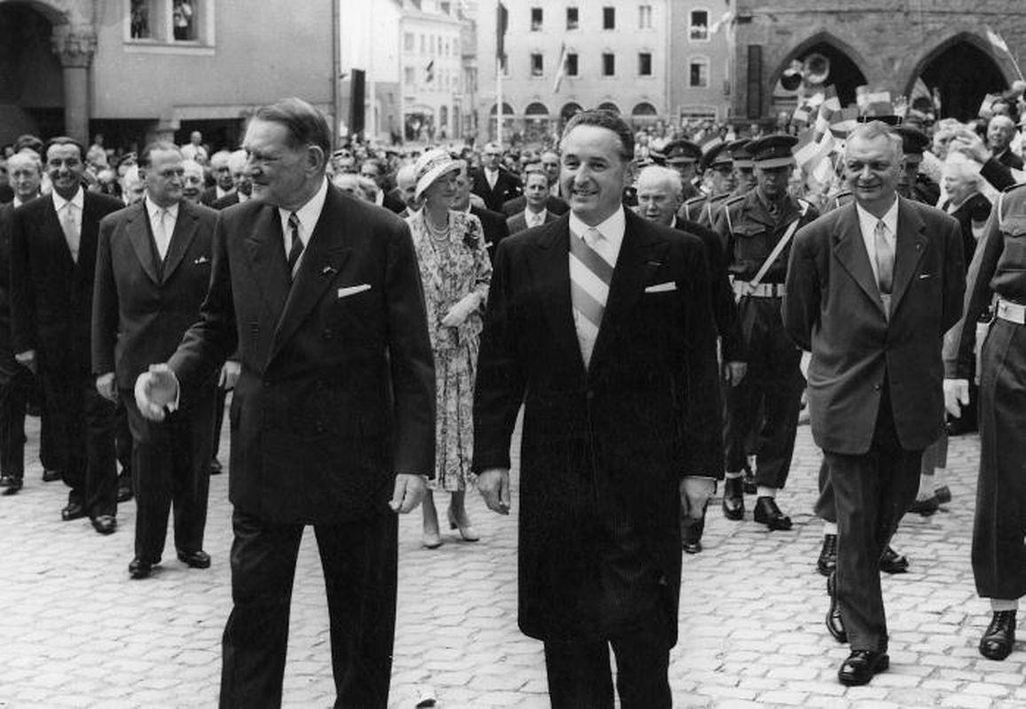 Der französische Präsident besuchte Echternach.