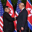 Kim Jong Un e Donald Trump.