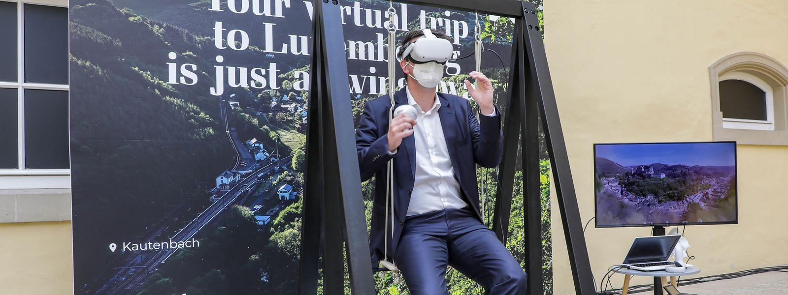 Mit der Luxembourg Sky Swing will Tourismusminister Lex Delles dem Großherzogtum eine weitere Visitenkarte geben.