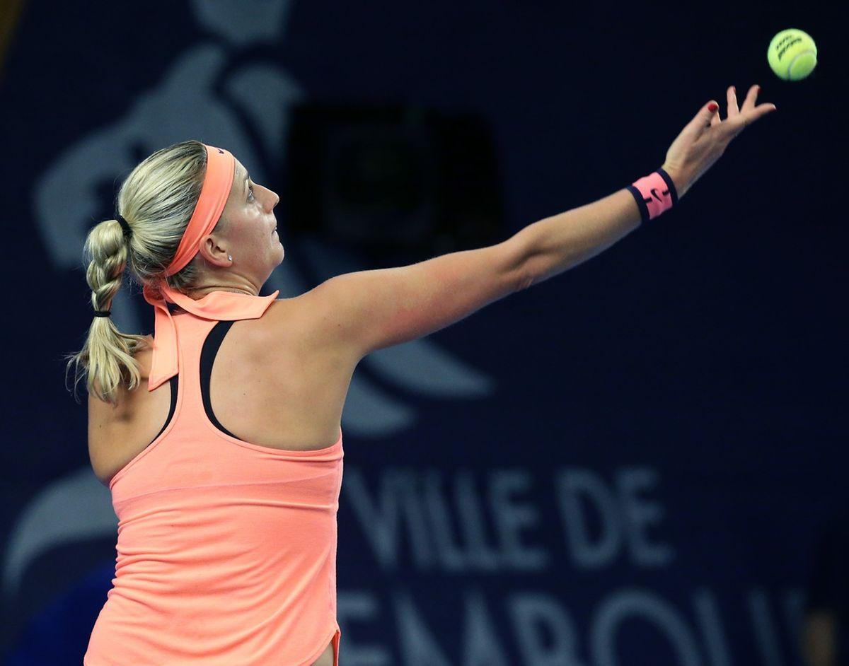 La tête de série n°1 Petra Kvitova a perdu le premier set contre Varvara Lepchenko, avant de dérouler...