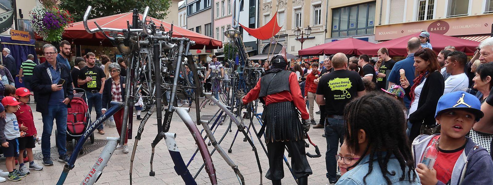 Gehende Fahrräder zauberten so manchem Besucher ein ungläubiges Staunen ins Gesicht.