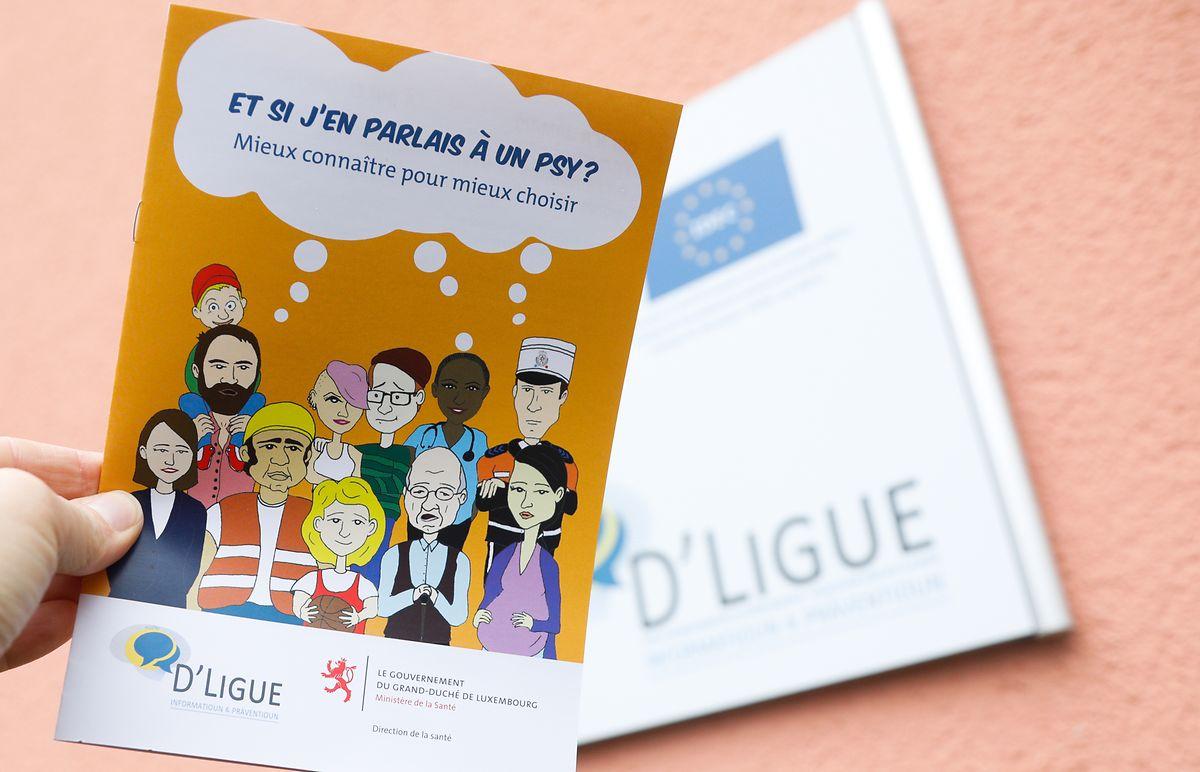 Die neue Broschüre enthält nützliche Informationen zu den Berufen Psychologe, Psychiater und Psychotherapeut.