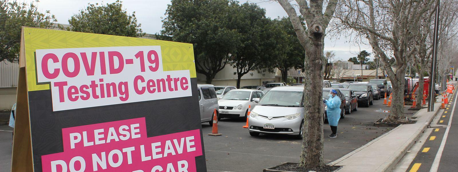 Eine Covid-Teststation in Auckland, der größen Stadt Neuseelands.