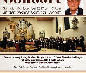 """CONCERT """"50 Joer Dirigent Josy Putz"""""""