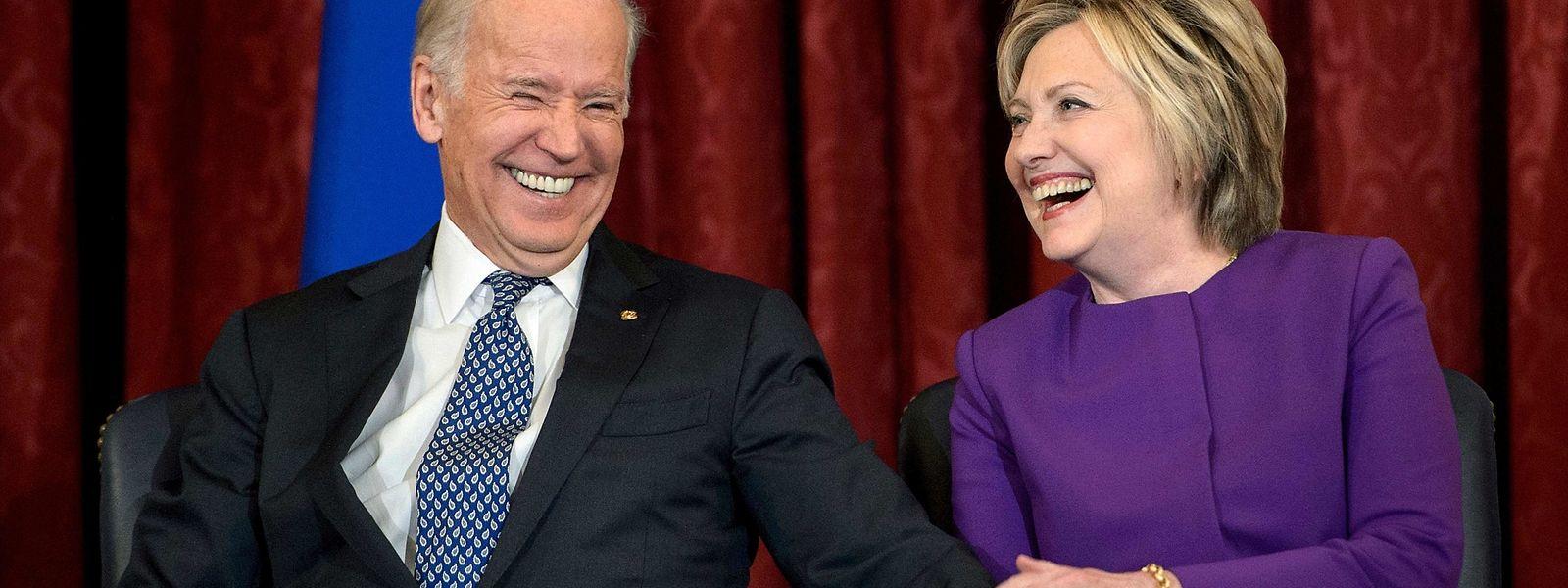 Joe Biden mit Hillary Clinton.
