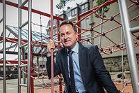 Politik, Premierminister Xavier Bettel, Sommerinterview im Hof der Primärschule in Bonneweg, Foto: Guy Wolff/Luxemburger Wort, Foto: Guy Wolff/Luxemburger Wort
