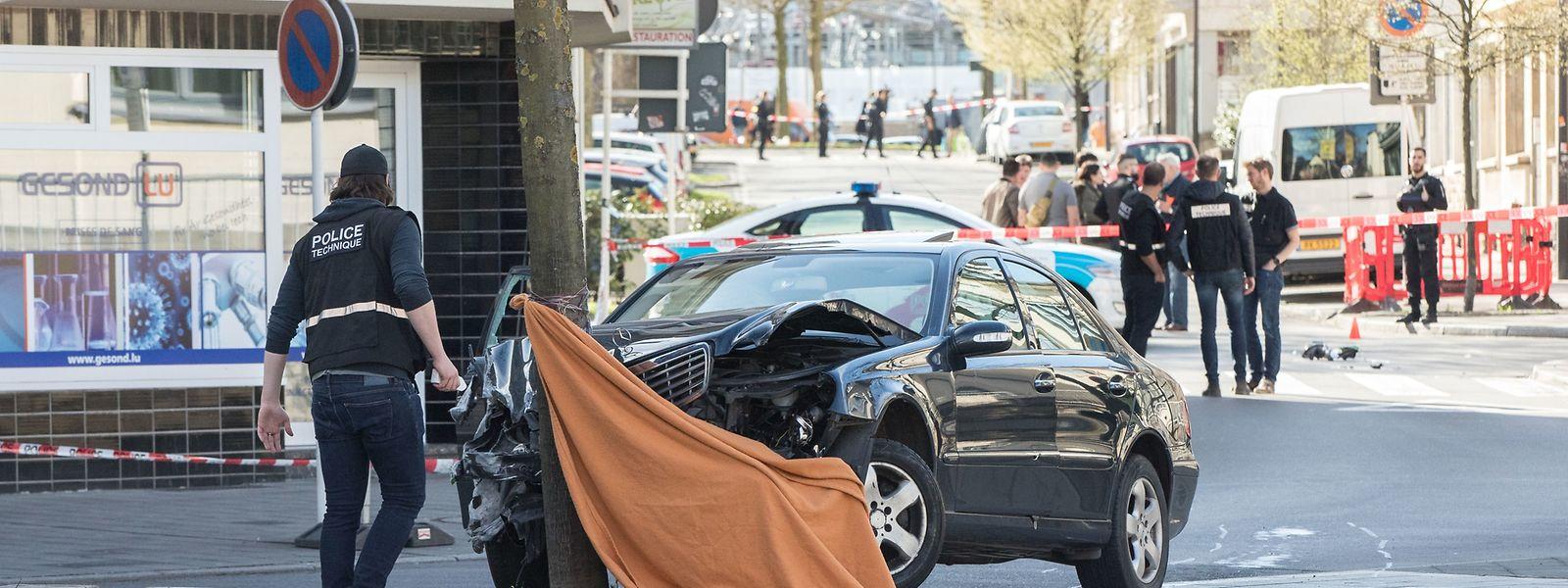 Der Wagen des tödlich verwundeten Mannes.