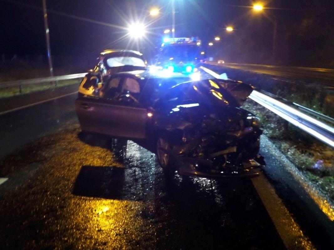 L'accident survenu sur l'A4 à 5h30 samedi
