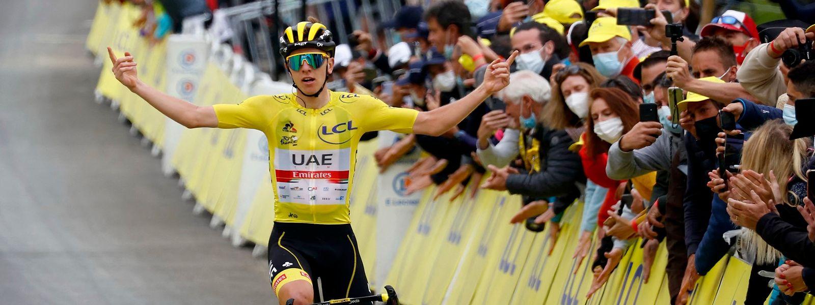 Tadej Pogacar drückt der Tour de France weiter seinen Stempel auf.