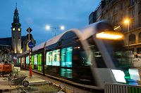 Lok , Testphase Tram , Tram bis zum Bahnhof , Luxtram , Oeffentlicher Transport , Foto:Guy Jallay/Luxemburger Wort