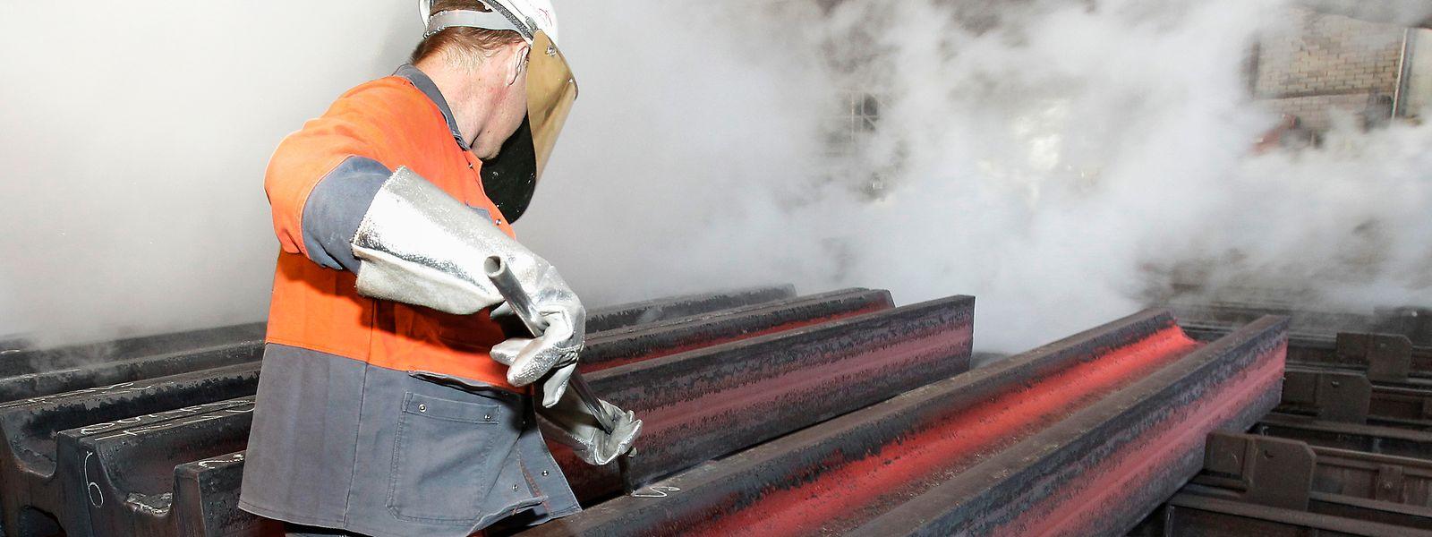 A Differdange et Belval, ArcelorMittal produit notamment des poutres en acier.