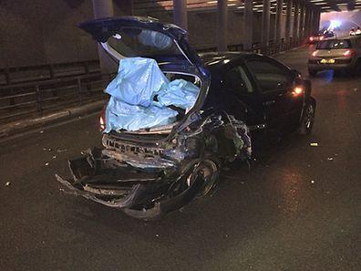Eines der Fahrzeuge bei dem Unfall am Salzhaff war nur noch Schrott.