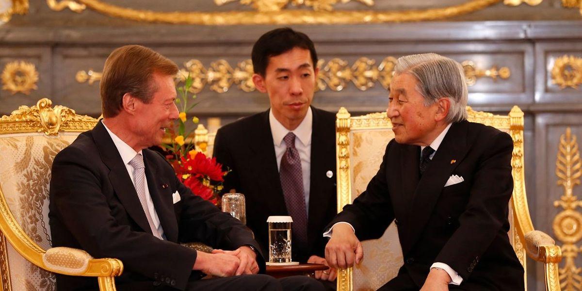 Großherzog Henri und Kaiser Akihito haben ein sehr freundschaftliches Verhältnis zueinander.