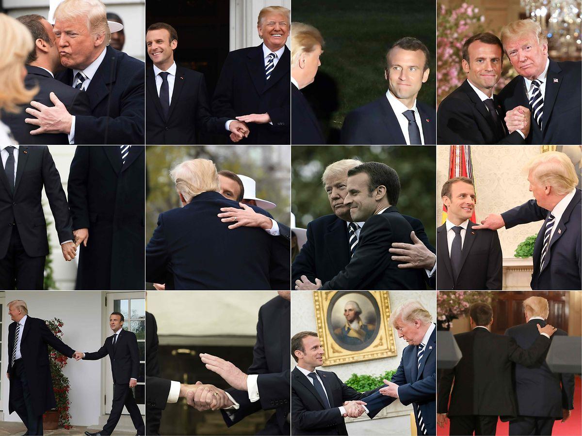 Küsschen, Handschlag, Schulterklopfen.