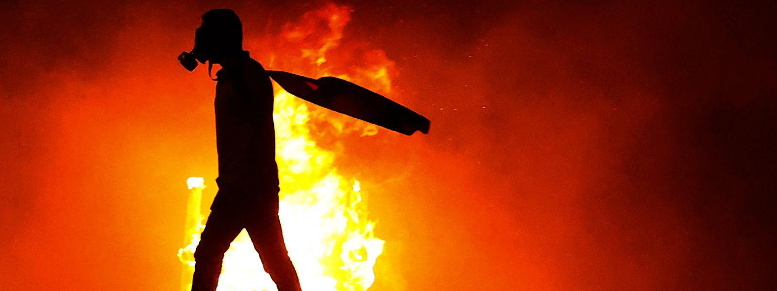 Feuer in der Westbank.