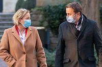 Politik, Briefing Xavier Bettel und Paulette Lenert, Covid-19, Coronavirus, Chris Karaba/Luxemburger Wort