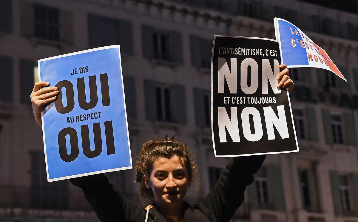Proteste gegen die aufflammenden antisemitischen Strömungen gab es in den vergangenen Wochen ebenfalls - dennoch sind die Autoritäten in Sorge.