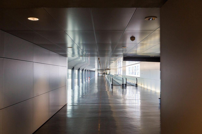 Einblicke in das neue Terminal B am Flughafen Findel.