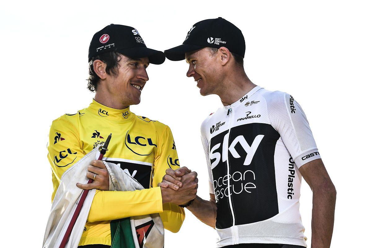 Geraint Thomas soll beim Giro starten, Chris Froome (r.) konzentriert sich auf die Vuelta.